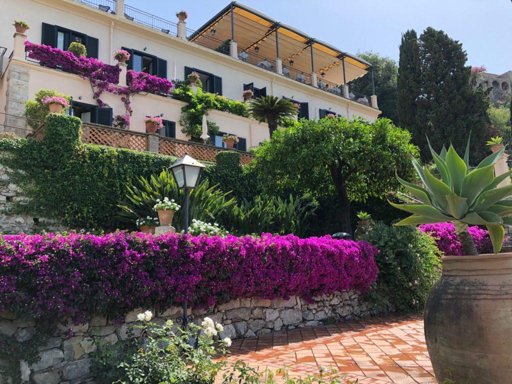Luxury hotel gardens for destination wedding photography