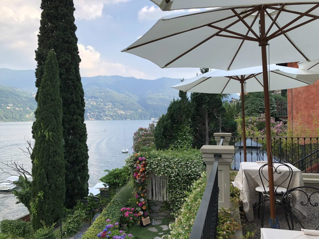 Lake Como view from hotel terrace