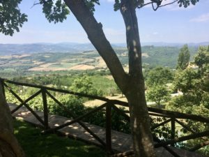 Views forever over the Umbrian countryside